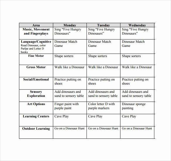 Infant Weekly Lesson Plan Fresh 17 Best Ideas About Lesson Plan Sample On Pinterest
