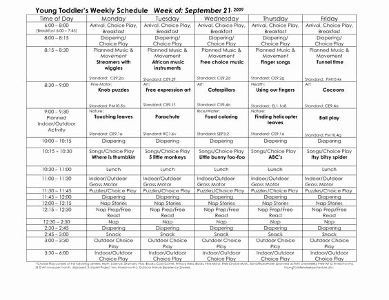 Infant Weekly Lesson Plan Inspirational toddler Lesson Plan Template