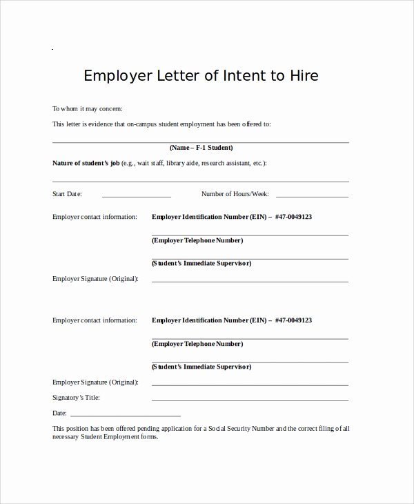Intent to Hire Letter Beautiful Sample Letter Of Intent 47 Examples In Pdf Word