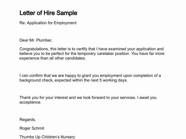 Intent to Hire Letter Best Of Hiring Letter Sample Icebergcoworking Icebergcoworking