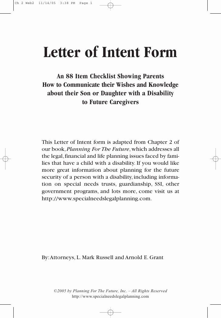 Intent to Hire Letter Fresh the Letter Of Intent