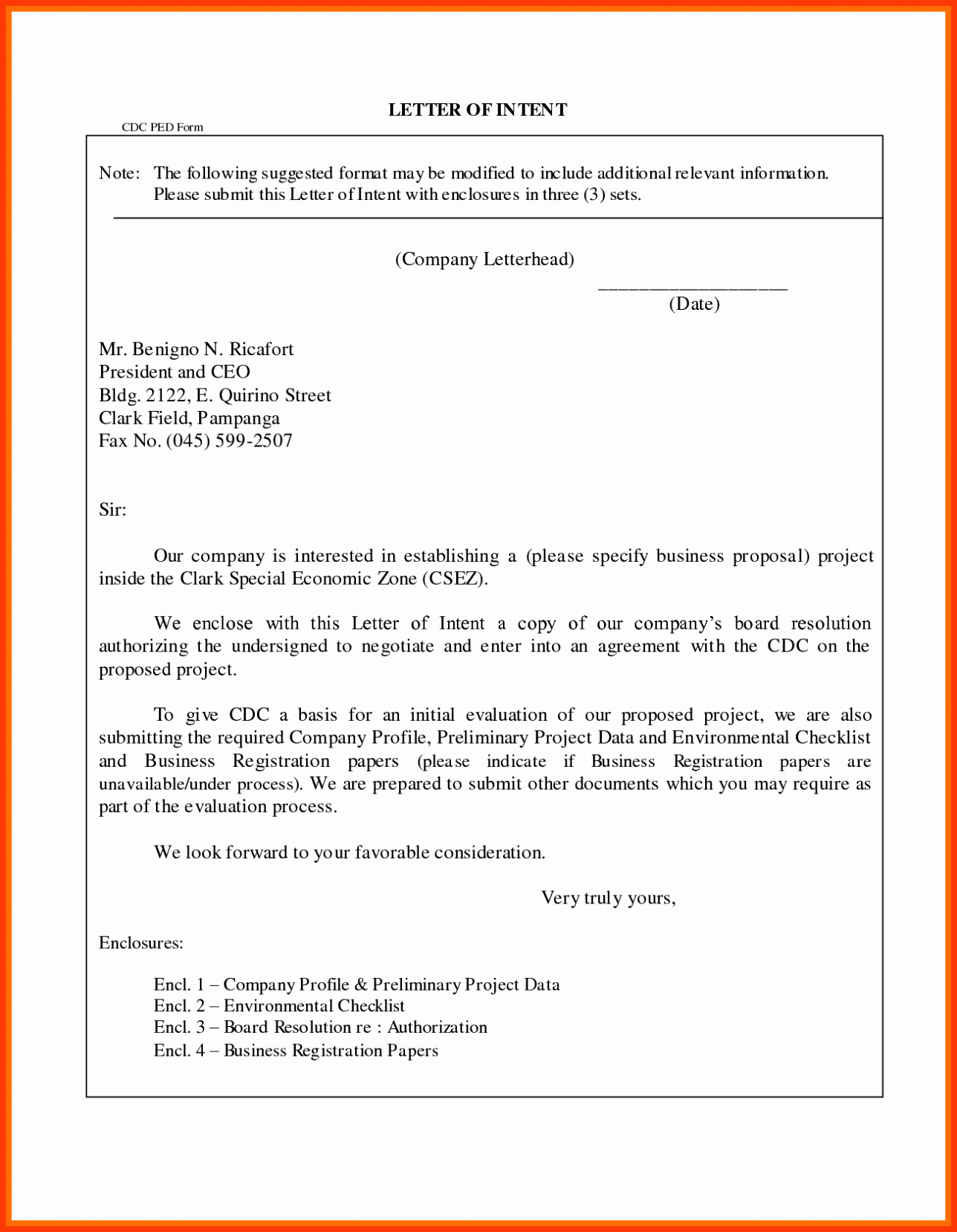 Intent to Hire Letter Lovely Letter Intent for Business