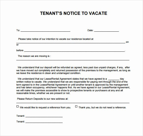 Intent to Vacate Letter Template Elegant 8 Notice to Vacate Samples Google Docs Ms Word Apple
