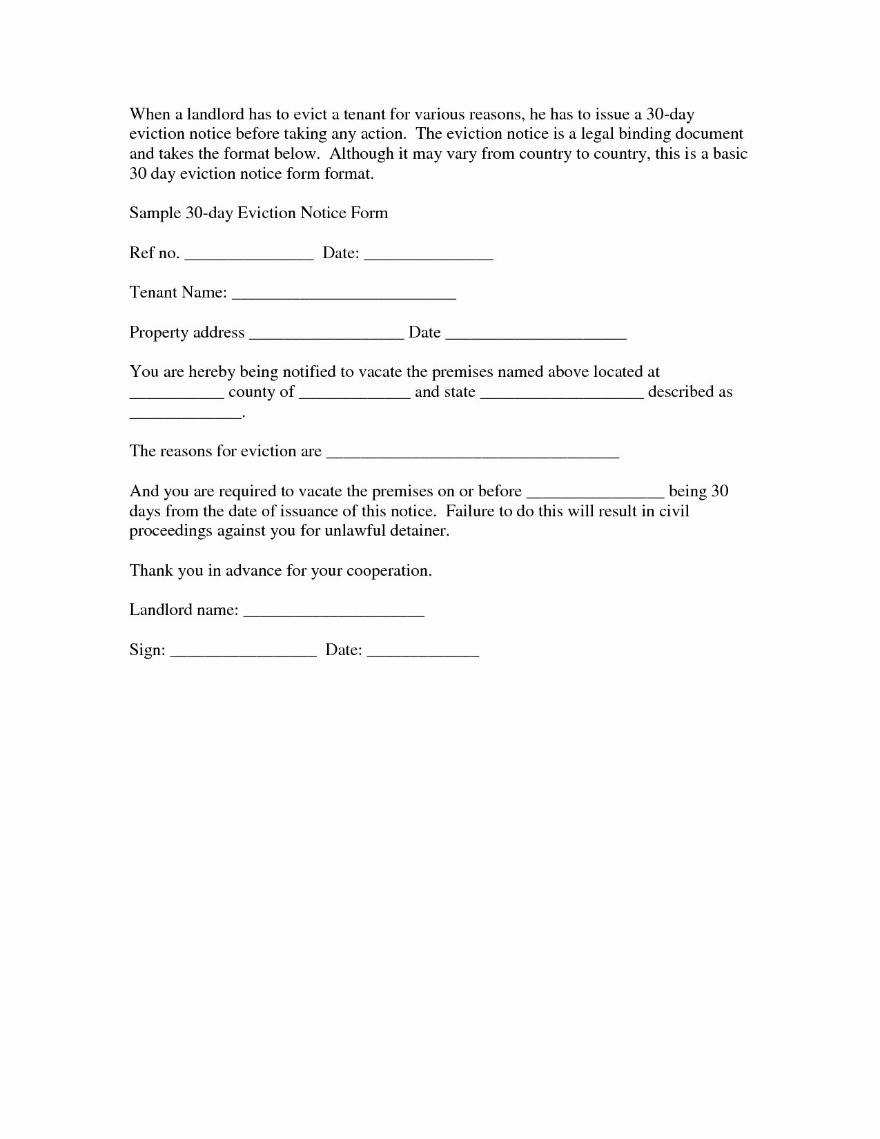 Intent to Vacate Sample Letter Best Of Intent to Vacate Letter Template Examples