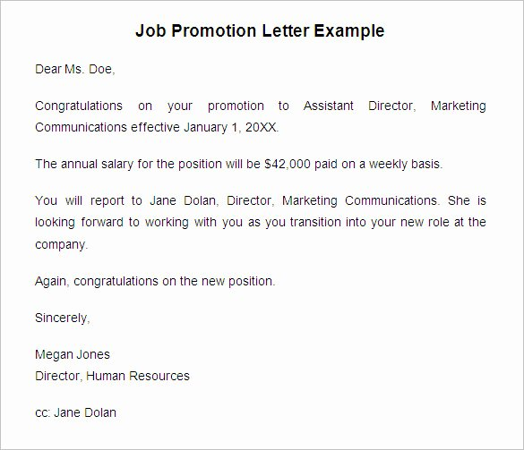 Internal Promotion Announcement Sample Beautiful 20 Promotion Letter Templates Pdf Doc Apple Pages