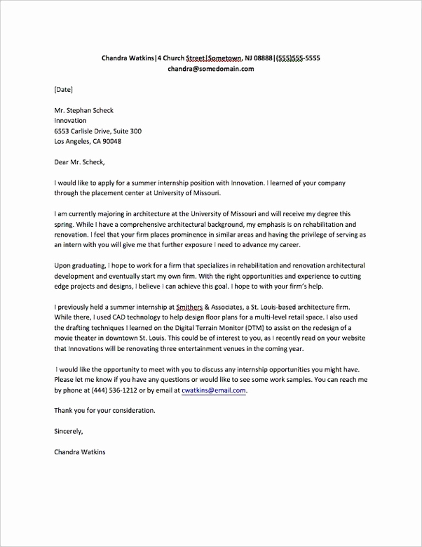 How do I write a good letter asking for an internship
