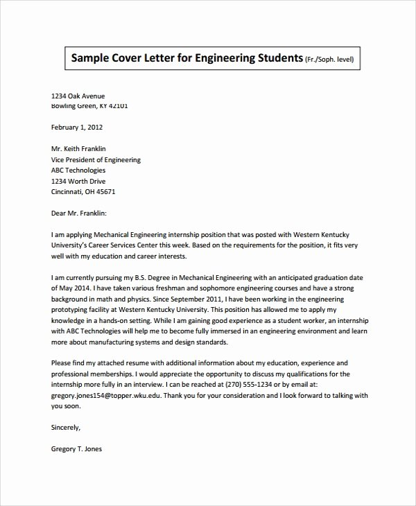 Internship Cover Letter Sample Awesome 8 Sample Internship Cover Letters Pdf Word