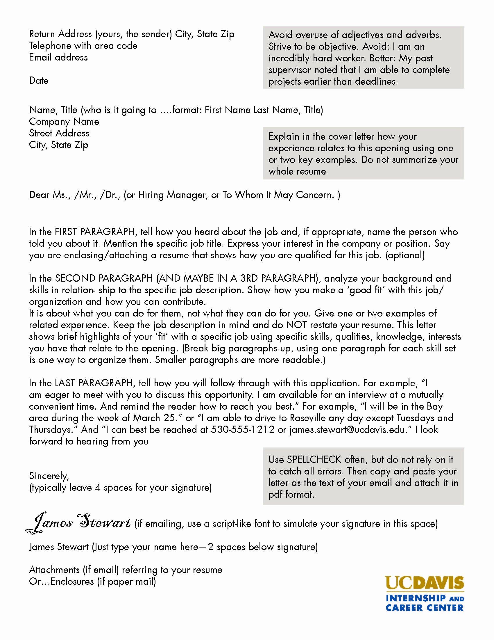 Internship Cover Letter Sample Elegant 16 Best Cover Letter Samples for Internship Wisestep