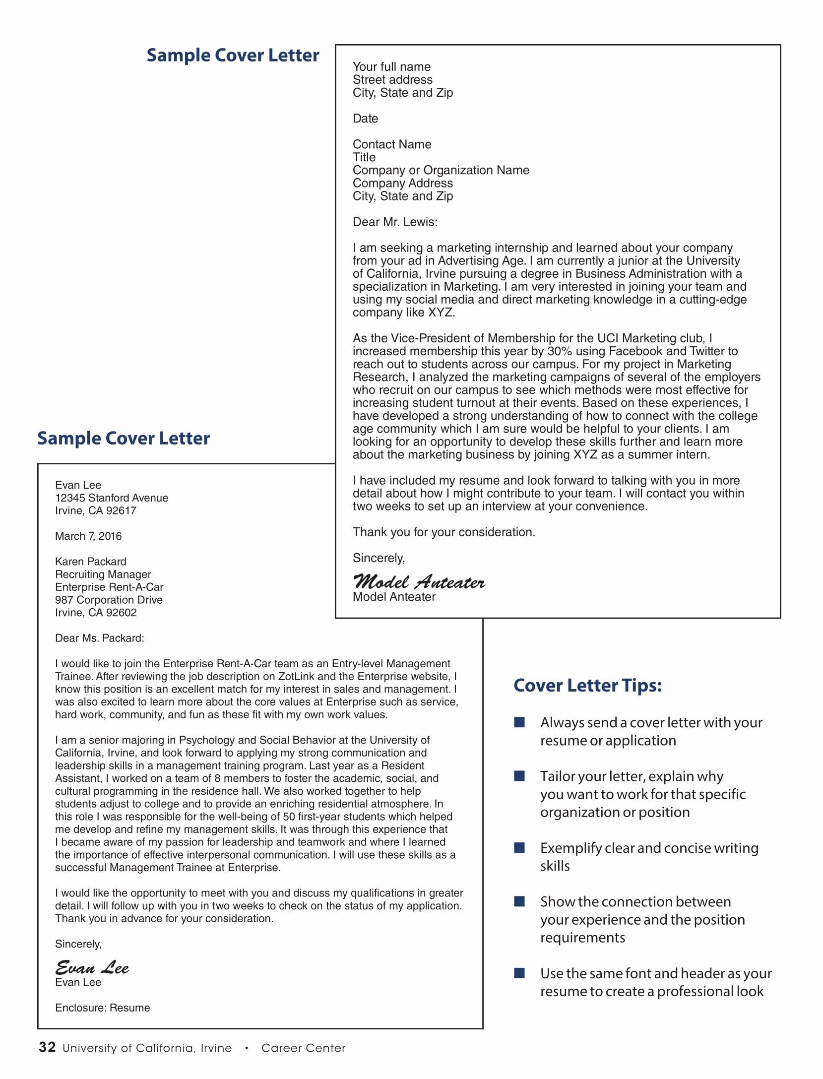 Internship Cover Letter Sample Inspirational 16 Best Cover Letter Samples for Internship Wisestep