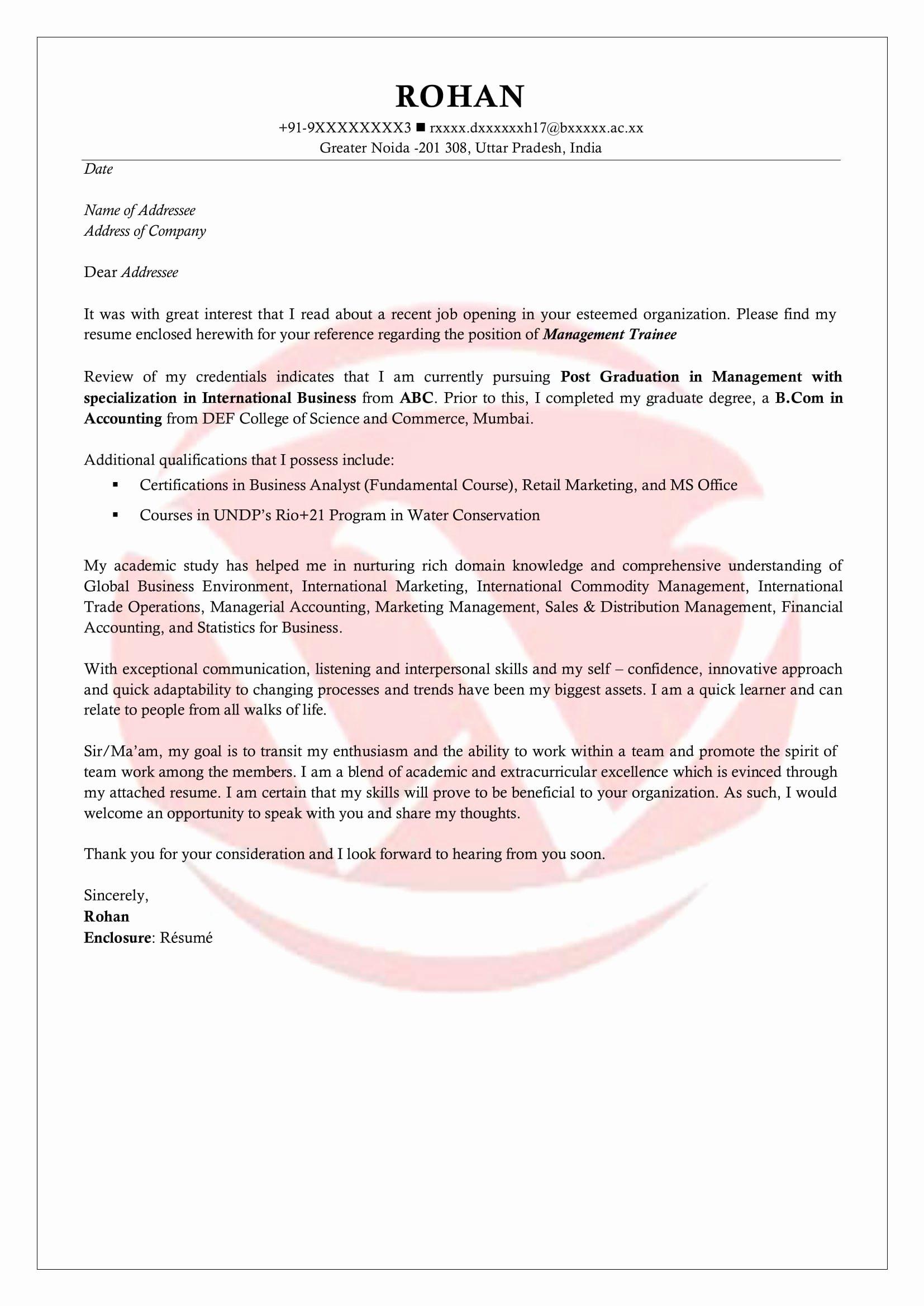 Internship Cover Letter Sample New Internship Sample Cover Letter format Download Cover