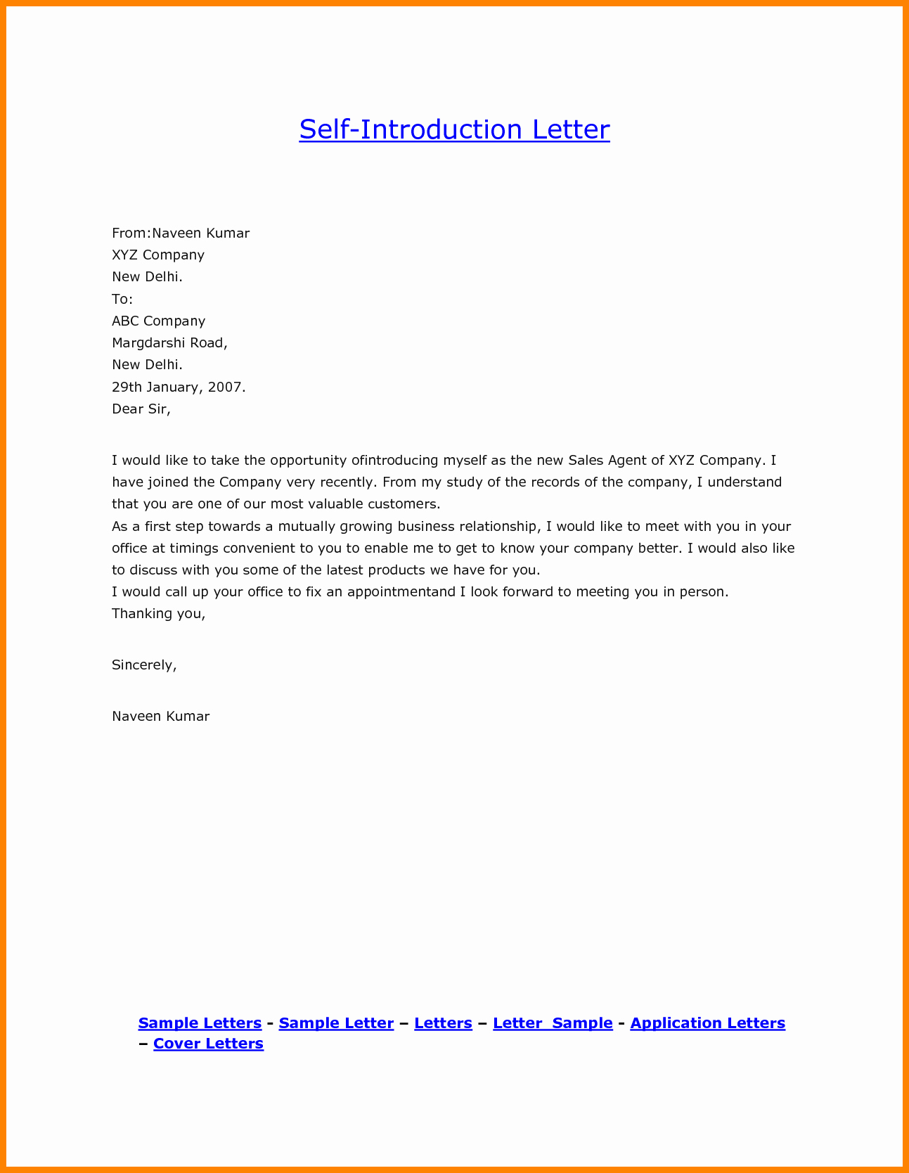 Introductory Letter for Employee Awesome 8 Sample Introduction Letter for New Employee