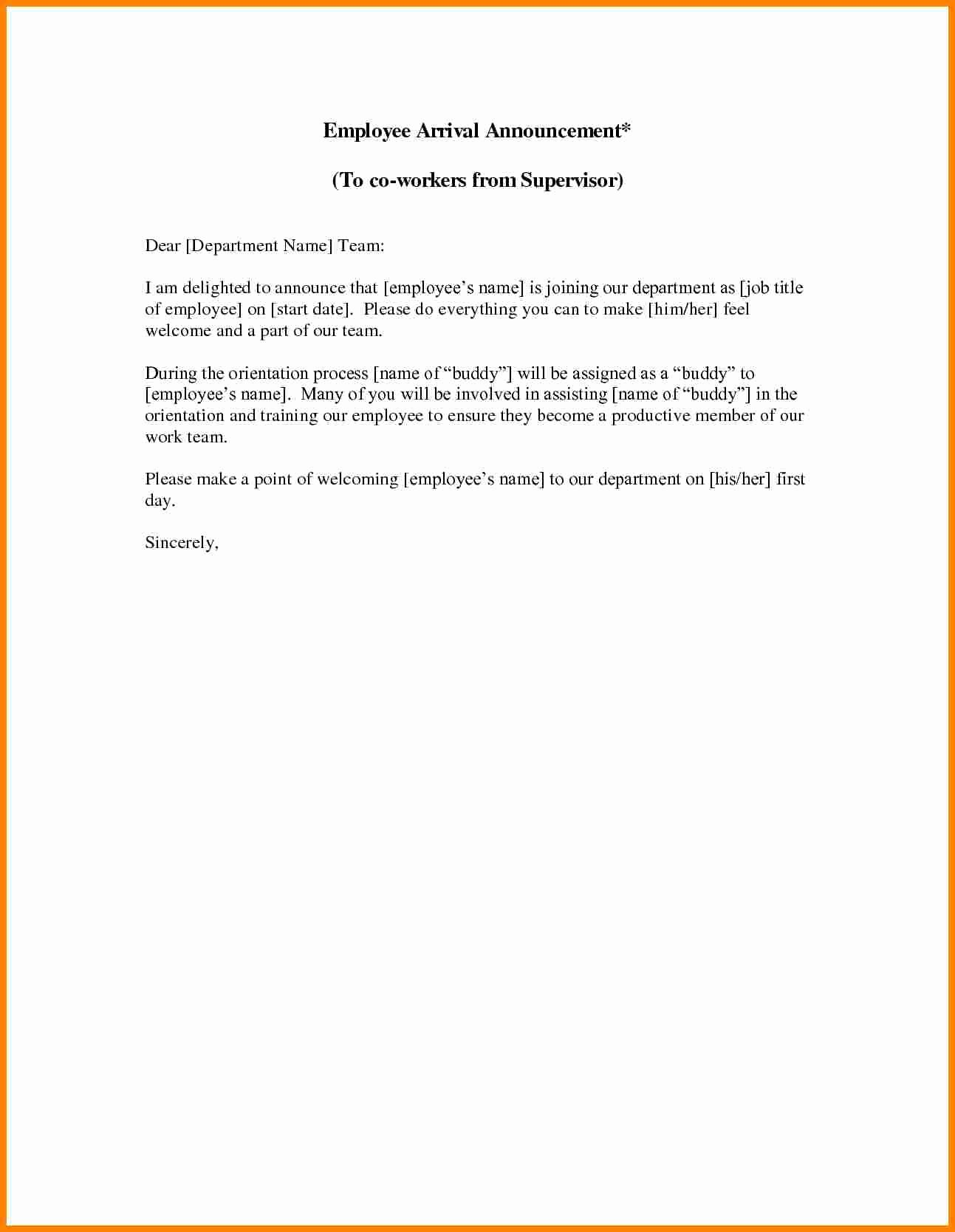 Introductory Letter for Employee Best Of 8 Sample Introduction Letter for New Employee