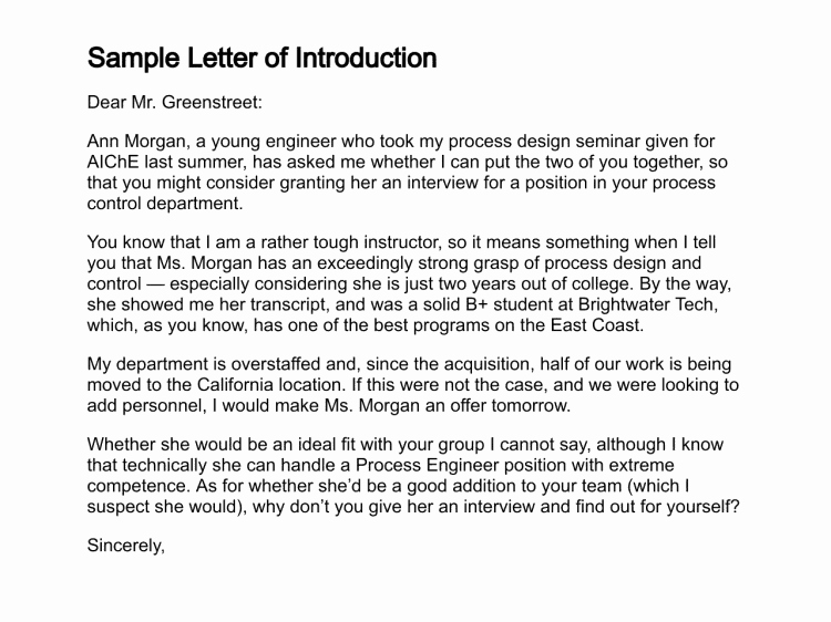 Introductory Letter for Employee Inspirational 12 Sample Introduction Letters Sample Letters Word