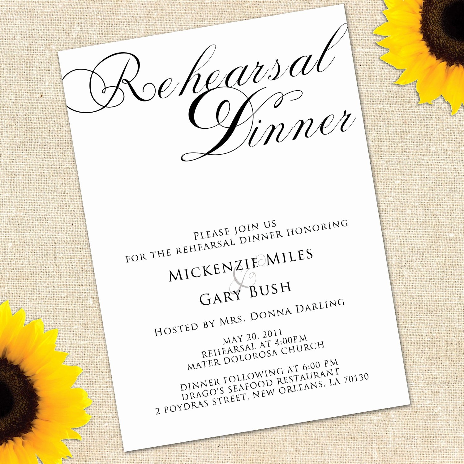 Invitation Message for Dinner Awesome Memorial Day Sale Simplicity Rehearsal by Yellowbrickgraphics