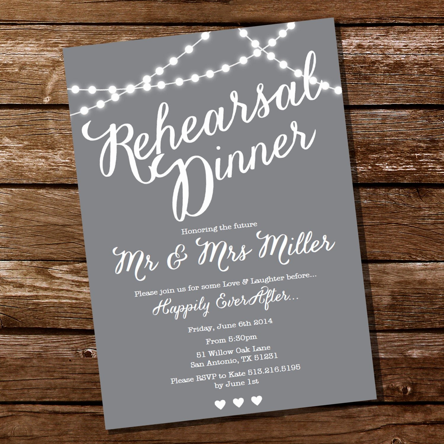 Invitation Message for Dinner Beautiful Gray Rehearsal Dinner Invitation Instant Download and Edit
