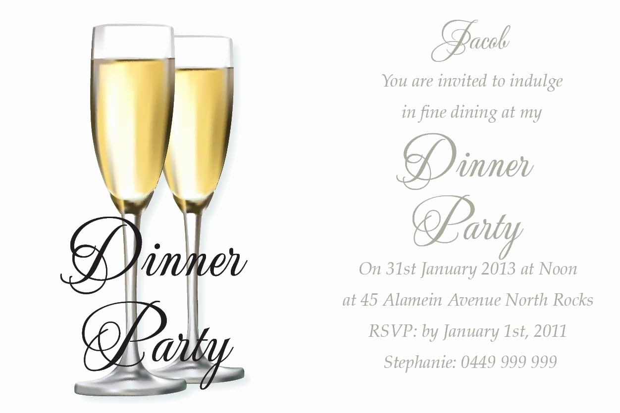 Invitation Message for Dinner Fresh Awesome Birthday Dinner Invitation Wording Ideas