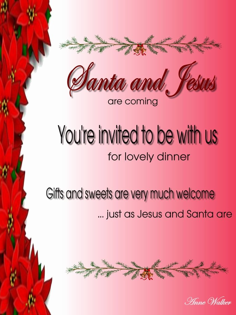 Invitation Message for Dinner Inspirational Christmas Invitation Template and Wording Ideas