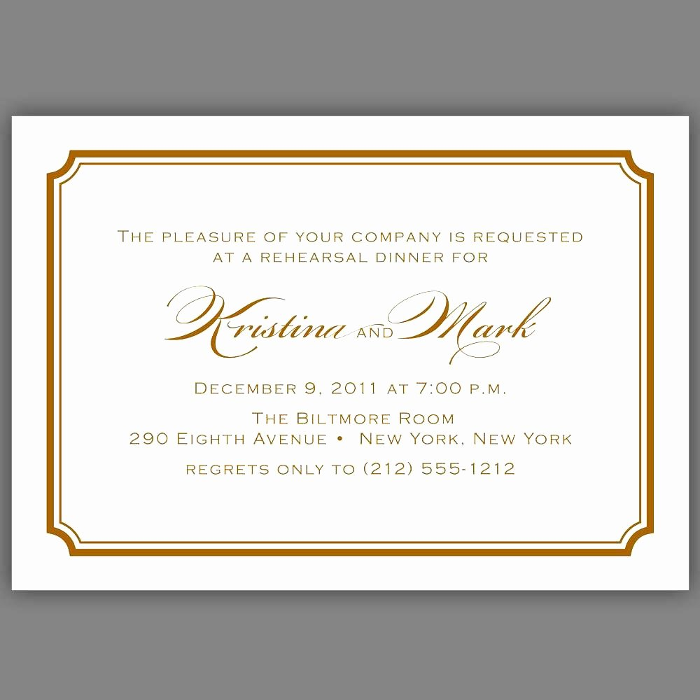 Invitation Message for Dinner Inspirational formal Dinner Invitation Wording