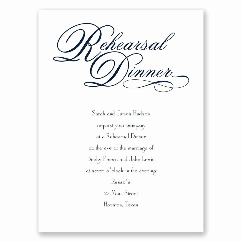 Invitation Message for Dinner Inspirational Rehearsal Dinner Petite Invitation