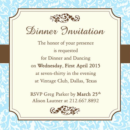 Invitation Message for Dinner Luxury Fab Dinner Party Invitation Wording Examples You Can Use