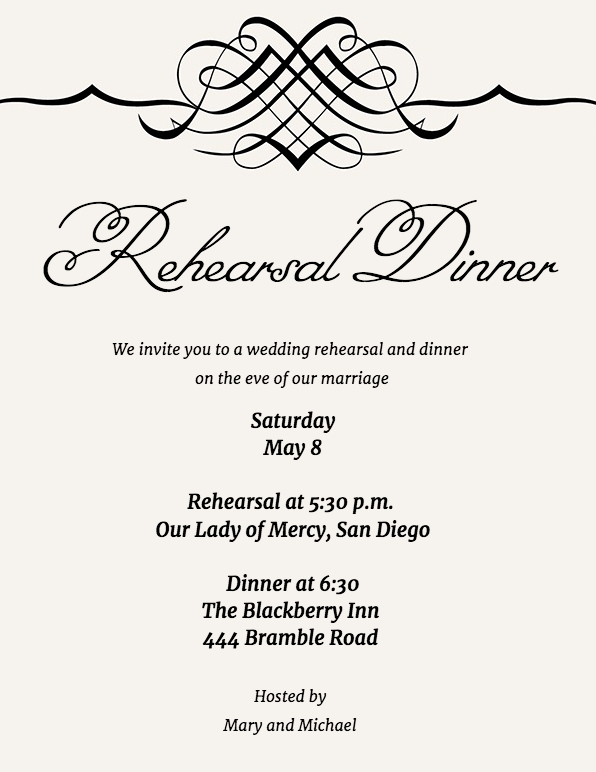 Invitation Message for Dinner New Guide to Rehearsal Dinner Invitation Wording