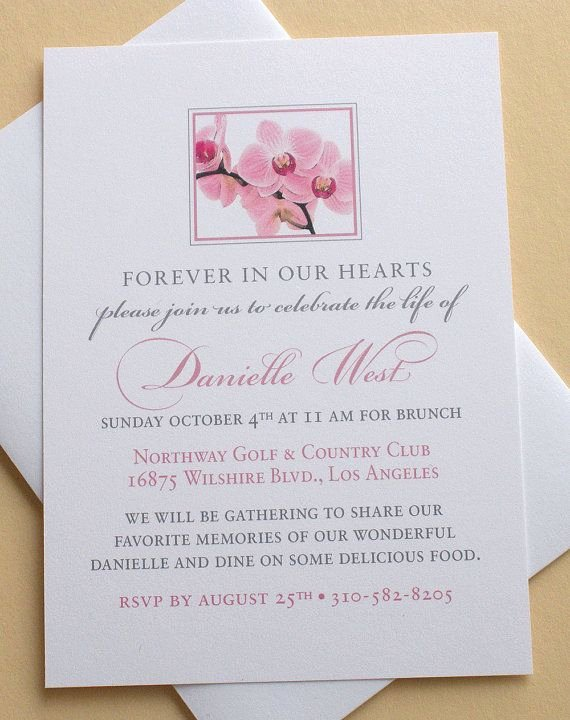 Invitations to A Funeral Awesome 27 Best Memorial Celebration Of Life Ideas Images On