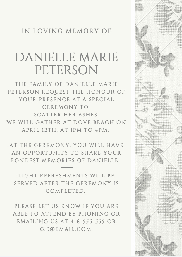 Invitations to A Funeral Awesome 39 Best Funeral Reception Invitations