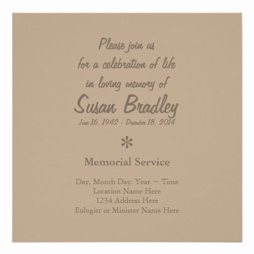 Invitations to A Funeral Beautiful 27 Best Memorial Celebration Of Life Ideas Images On