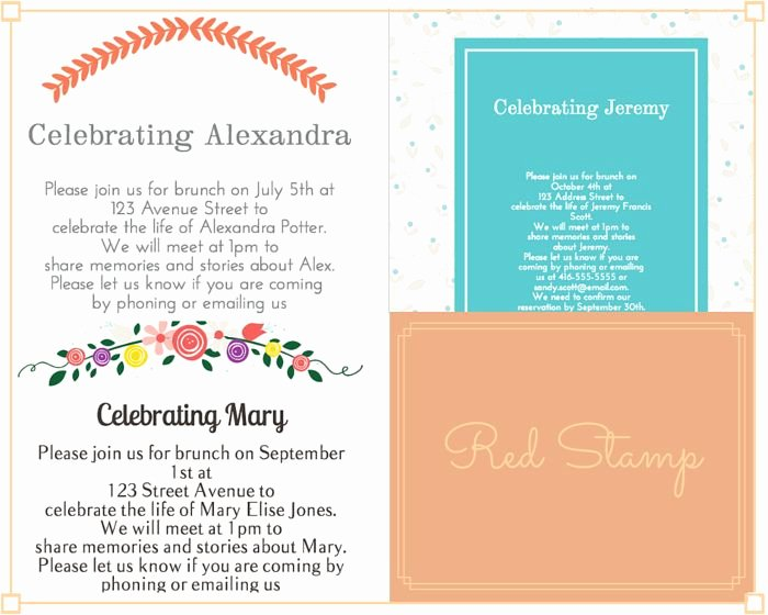 Invitations to A Funeral Beautiful 29 Best Funeral Reception Invitations Images On Pinterest