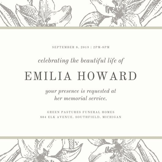 Invitations to A Funeral Best Of Grey Sketch Floral Funeral Invitation Templates by Canva