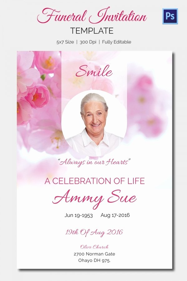 Invitations to A Funeral Fresh 15 Funeral Invitation Templates – Free Sample Example