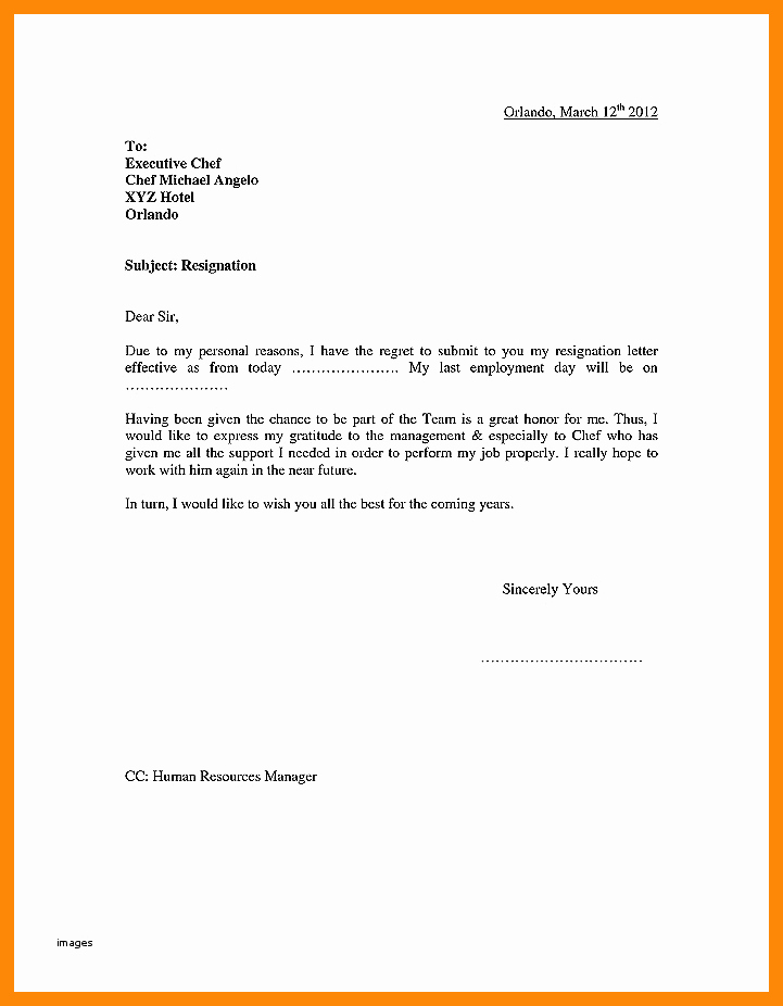 Involuntary Resignation Letter Sample Awesome 4 5 forced Resignation Letter
