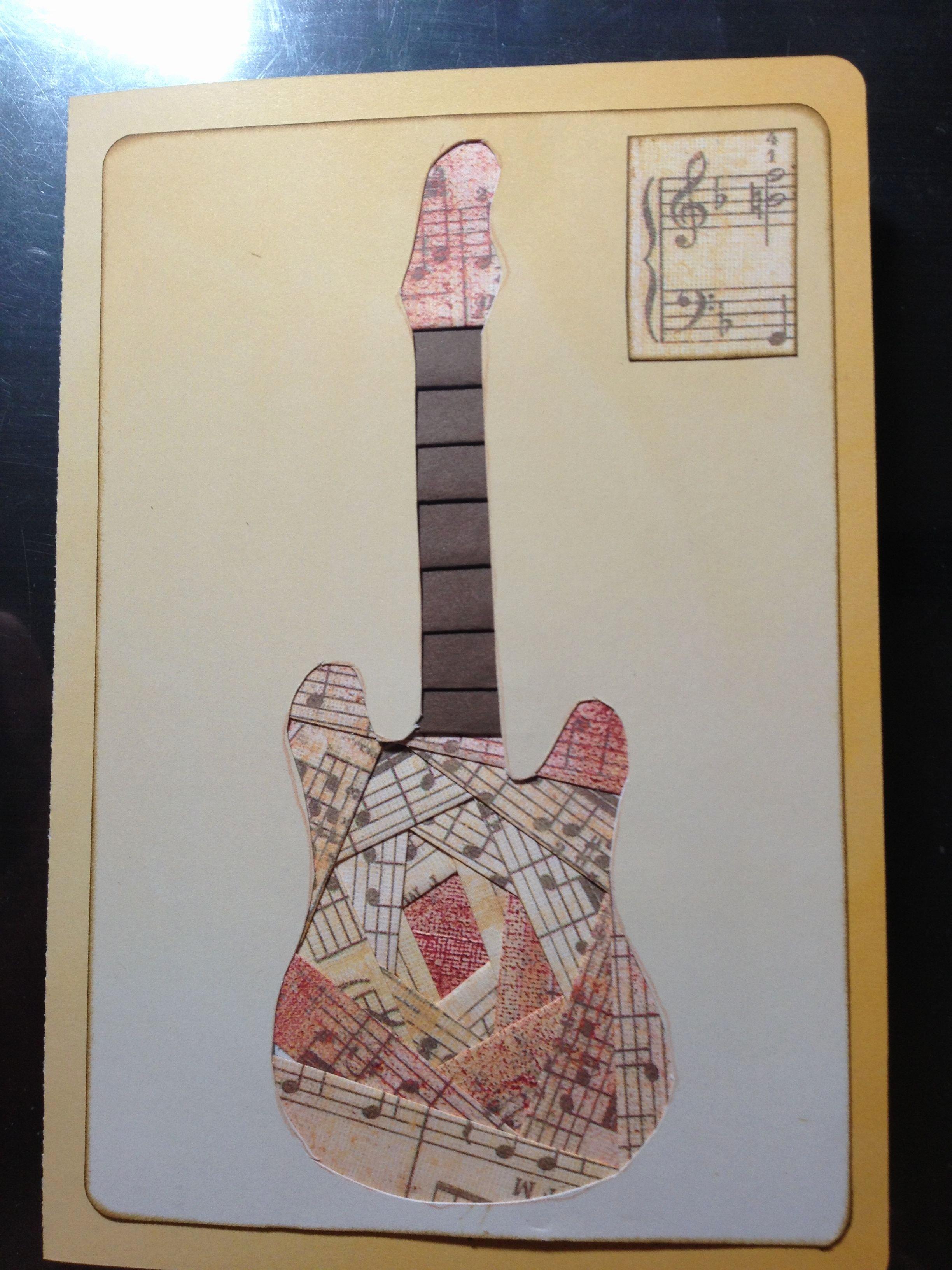 Iris Paper Folding Patterns Inspirational Iris Folding Guitar Card