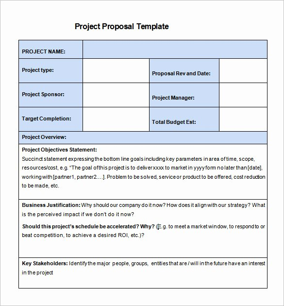 It Project Proposal Sample Awesome 27 Project Proposal Templates Pdf Doc