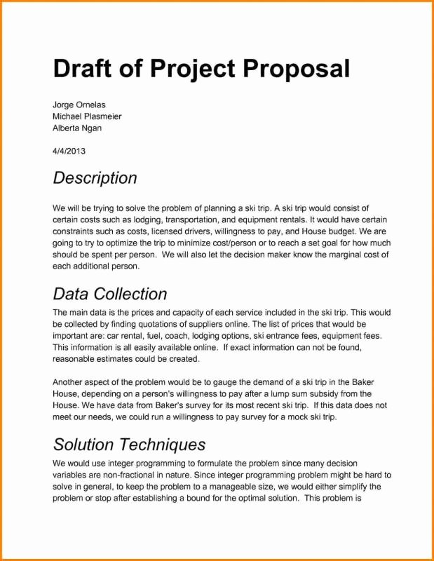 It Project Proposal Sample Elegant Project Proposal Sample
