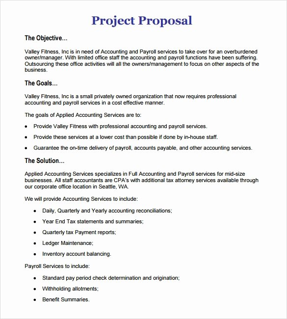 It Project Proposal Sample Elegant Sample Work Proposal 11 Documents In Pdf Word