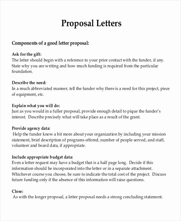 It Project Proposal Sample Fresh 9 Sample Project Proposal Letter Examples In Word Pdf
