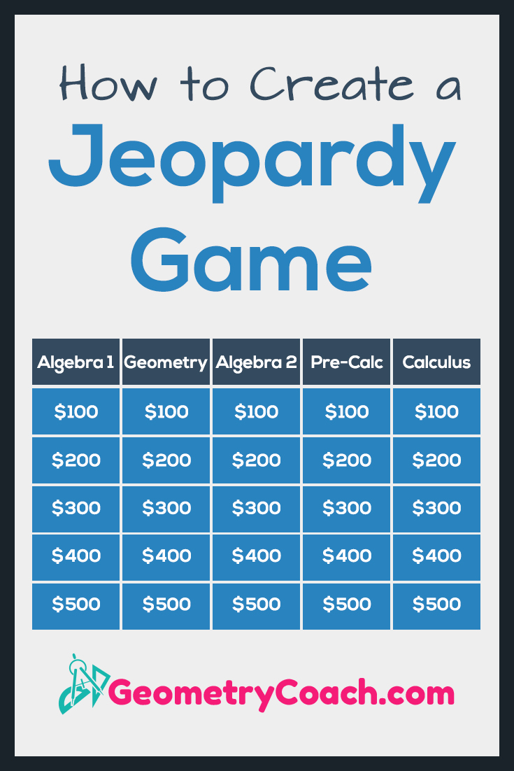 Jeopardy Game for Classrooms Lovely How to Create A Jeopardy Game Geometrycoach