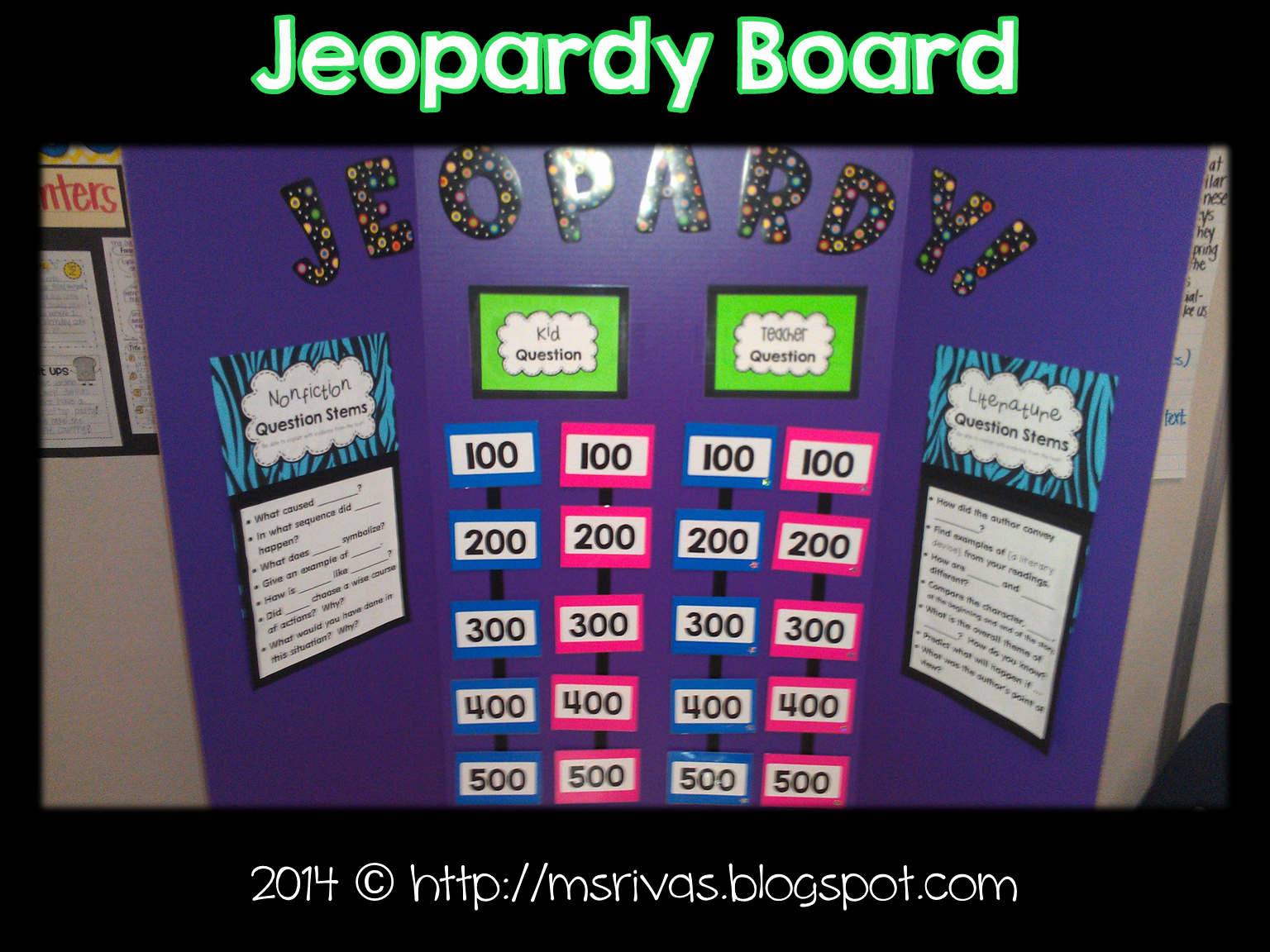 Jeopardy Game for Classrooms New forkin4th Make A Class Jeopardy Board