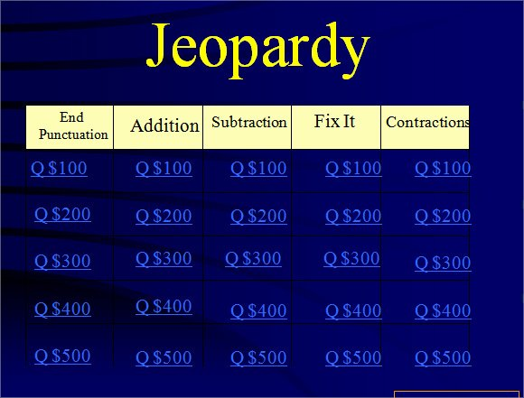 Jeopardy Template with Scorekeeper Beautiful Jeopardy Powerpoint Template 8 Free Samples Examples