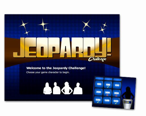 Jeopardy Template with Scorekeeper Best Of Jeopardy Challenge Flash Template Elearning Brothers