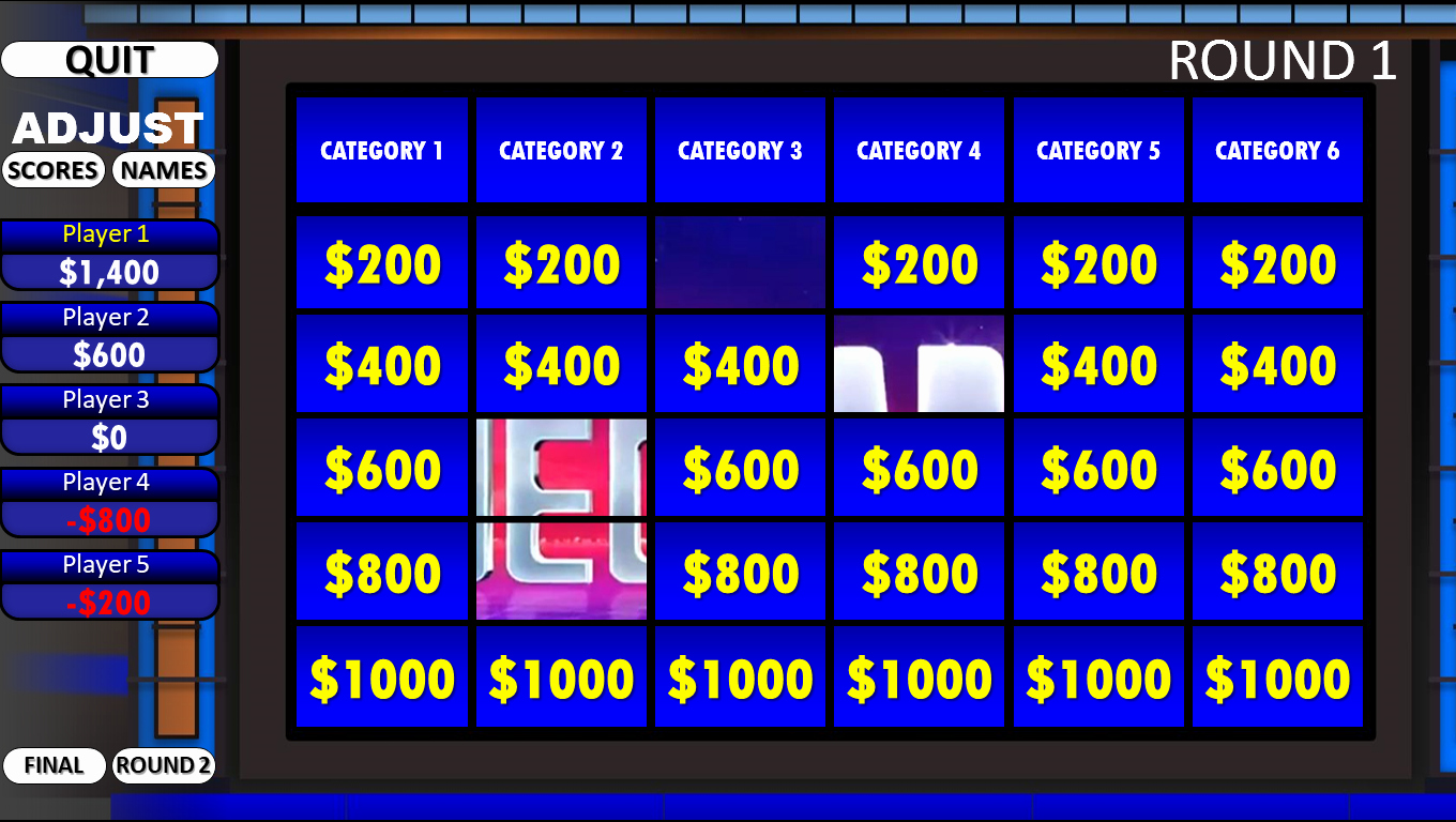Jeopardy Template with Scorekeeper Best Of Jeopardy