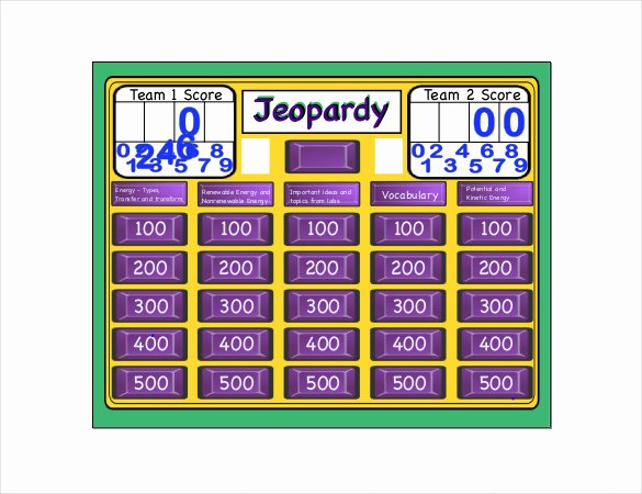 Jeopardy Template with Scorekeeper Elegant 8 Free Jeopardy Templates Free Sample Example format