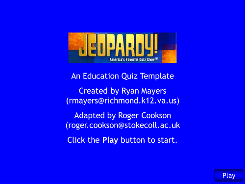 Jeopardy Template with Scorekeeper Luxury Interactive Self Scoring Jeopardy Template by Rcook2sc