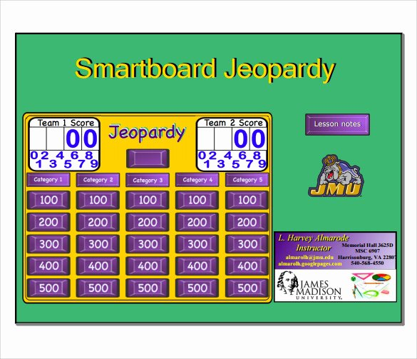 Jeopardy Template with Scorekeeper New Sample Smart Board Jeopardy 6 Documents In Pdf Ppt