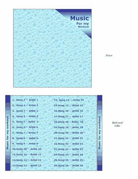 Jewel Case Insert Templates Lovely Cd Jewel Case Insert Water Design Fice Templates