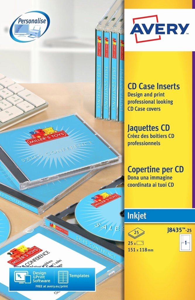 Jewel Case Insert Templates New Cd Case Inserts J8435 25