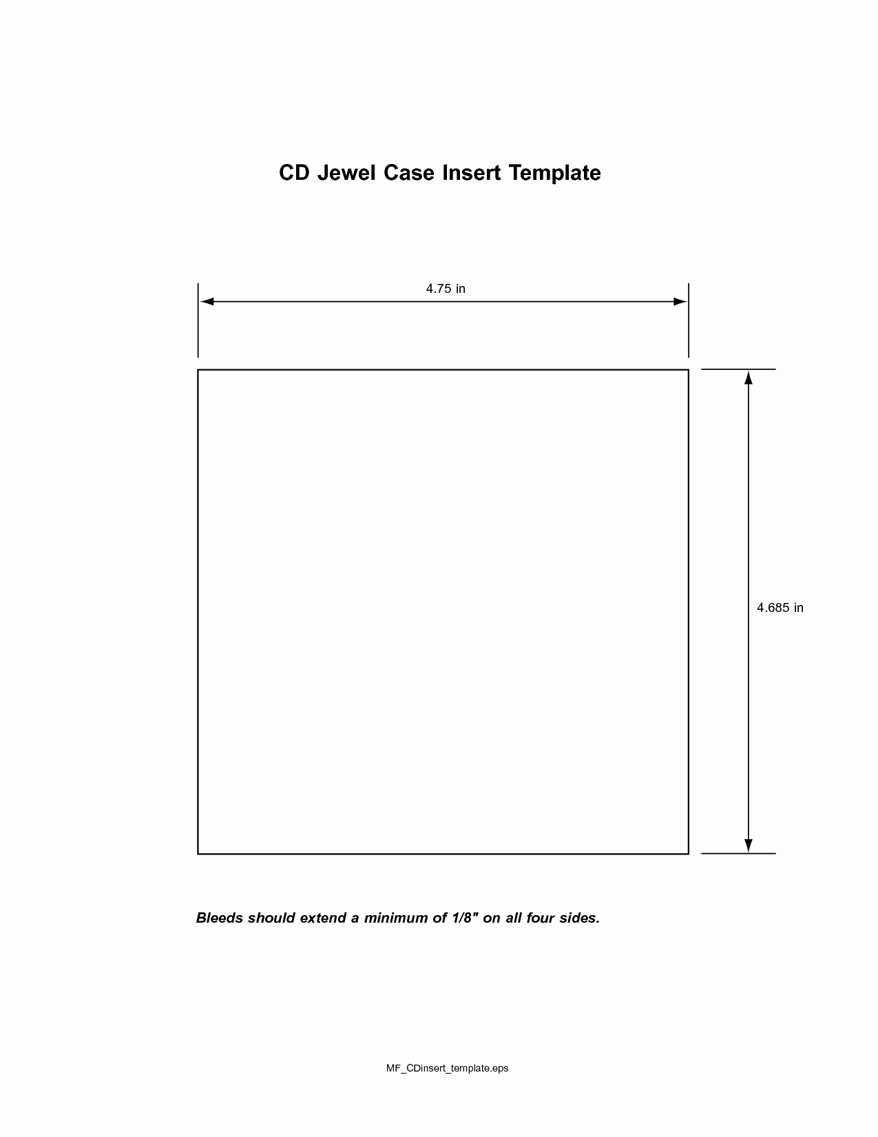 Jewel Case Inserts Template Awesome Cd Insert Template