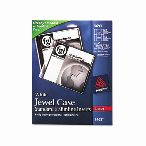Jewel Case Inserts Template Fresh Avery Laser Cd Dvd Jewel Case Inserts Ave5693 Shoplet