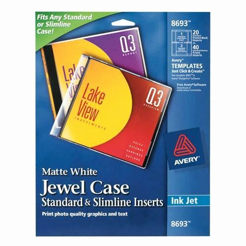 Jewel Case Inserts Template Inspirational Printer